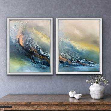 Rising above - Diptych artwork