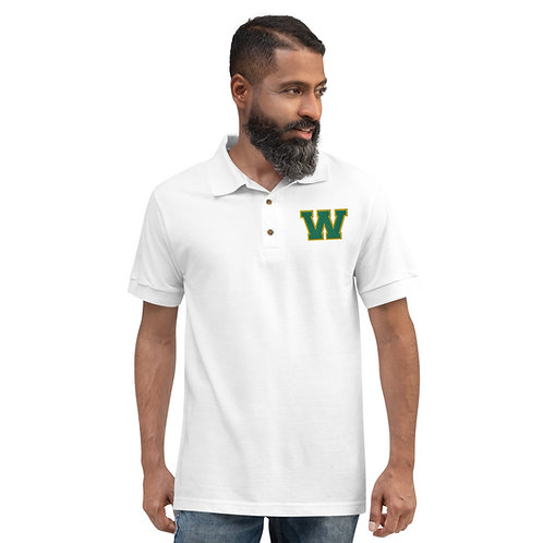 "Embroidered Polo Shirt - ""W"""