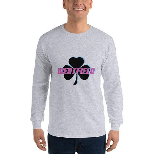 Pink/Blue Men's Long Sleeve Shirt