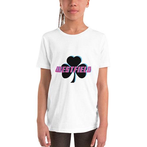 Youth Unisex Blue/Pink Shamrock T-Shirt