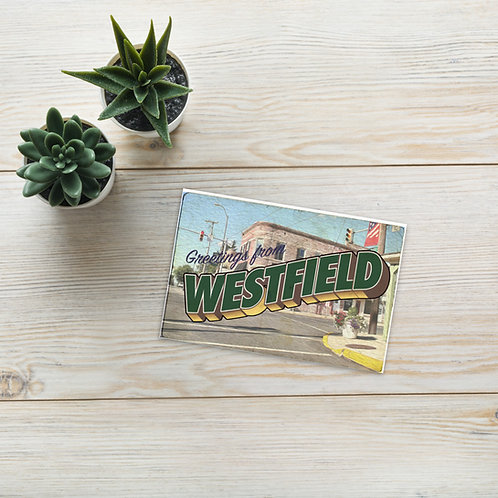 Greetings from Westfield Postcard (Green)