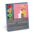 Paint by Number Postcards