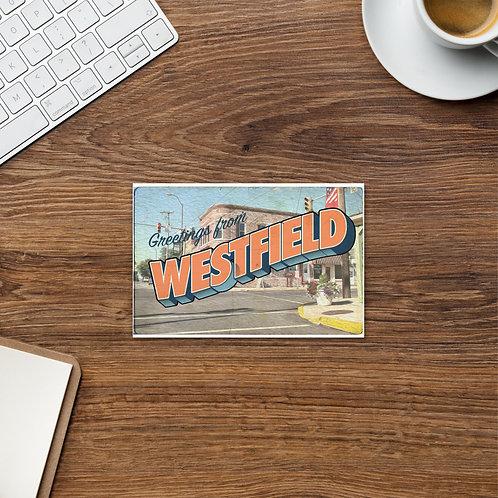 Greetings from Westfield Postcard (Orange)