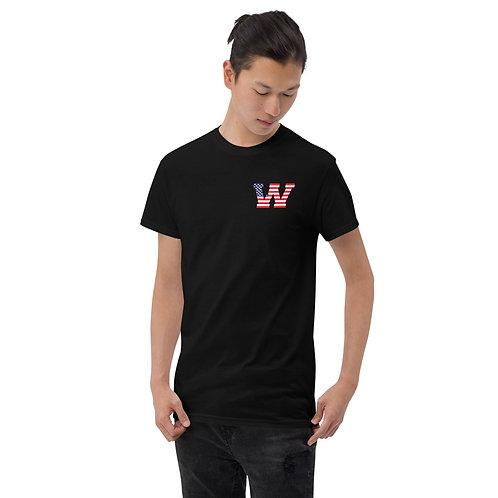 Short Shamrock Red, White, and Blue Sleeve T-Shirt