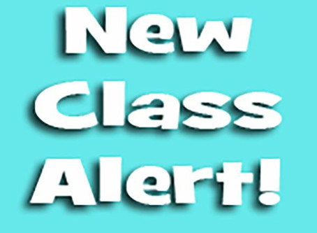 NEW LOCATION and NEW CLASSES
