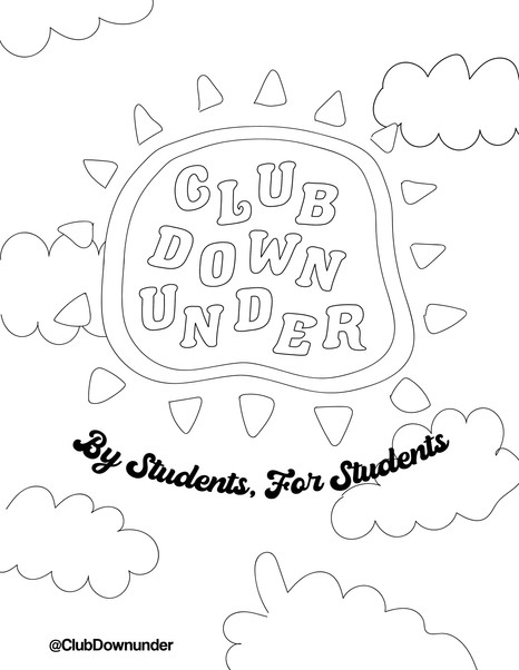 Club Downunder Coloring Page 2