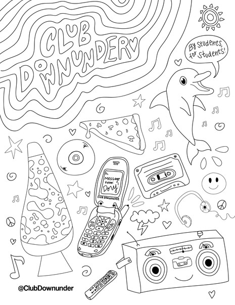 Club Downunder Coloring Page 1