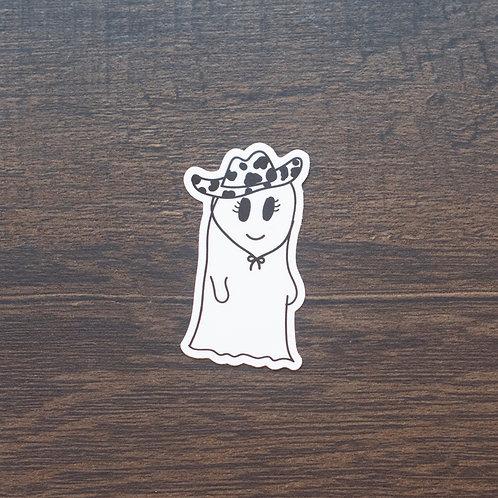 Cowgirl Ghost Sticker