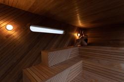 Sauna indefra