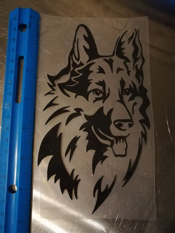 #1 long hair german shepherd decal