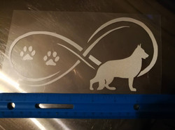 white german shepherd decal