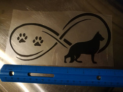 black german shepherd decal