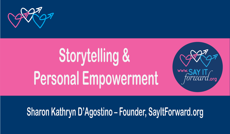 Storytelling and Personal Empowerment | Sharon D'Agostino