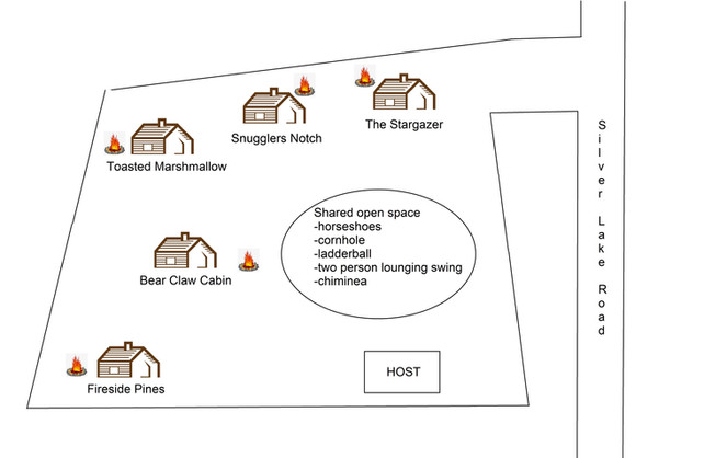 Babbling Brook Cottages Property Overview Map