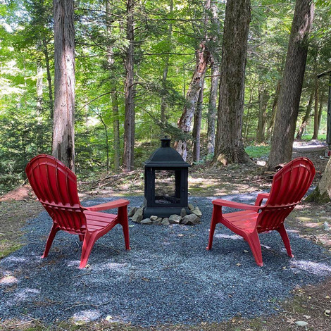 The Stargazer firepit view overlooking Delaware Water Gap National Recreation Area