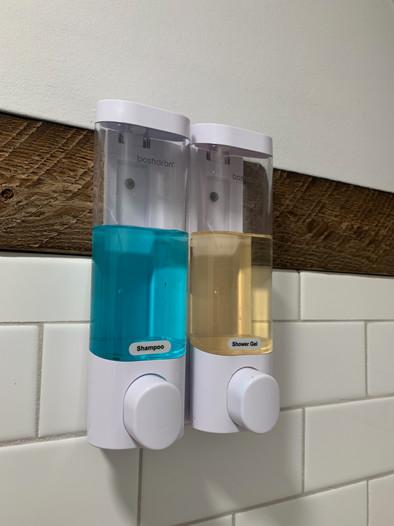We provide shampoo and body wash