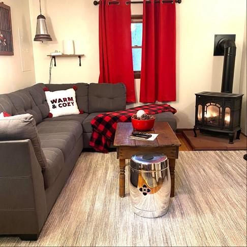 Bear Claw Cabin Living Room with Propane