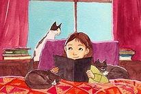 Menina-lendo-um-livro-rodeada-de-gatos.j