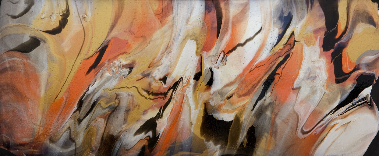 "Lava Series | Acrylic on Canvas | 30"" x 72"" 