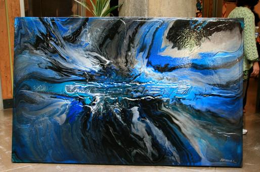 "WesteJet Commisson | Acrylic on Canvas | 48"" x 72"""