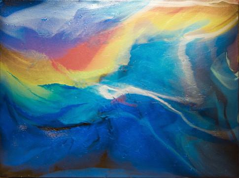 "Aurora Borealis | 30"" x 40"" | Acrylic | SOLD"