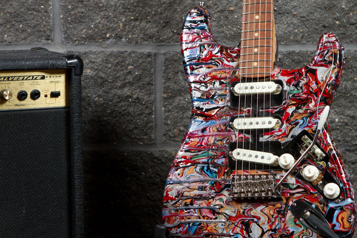 Custom Painted Fender Stratocaster