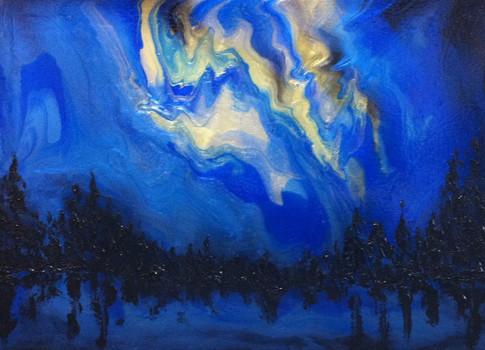 "Aurora Borealis | 36"" x 48"" | Acrylic | SOLD"