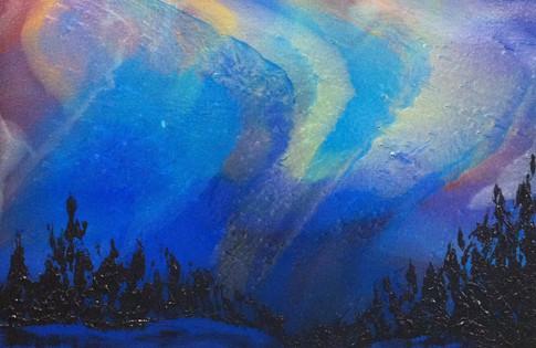 "Aurora Borealis | 18"" x 24"" | Acrylic | SOLD"