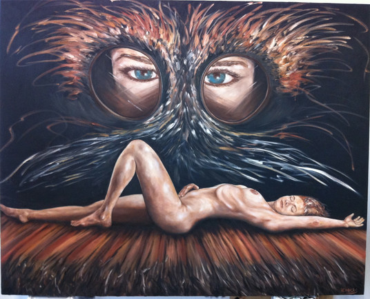 "Hawk Bird | 60"" x 72"" 
