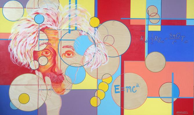 "Einstein | 30"" x 60"" | Acrylic | $4800"
