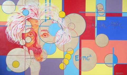 "Einstein   36"" x 60""   Acrylic   $4800"