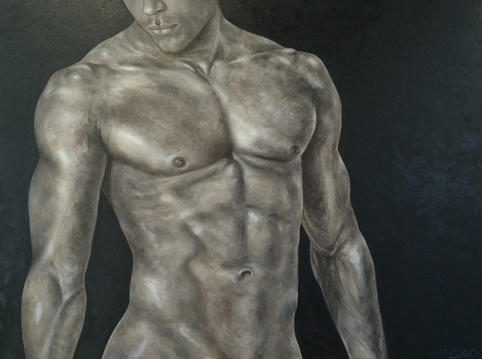 "Jesse | Oil on Canvas | 30"" x 40"" | $3600"