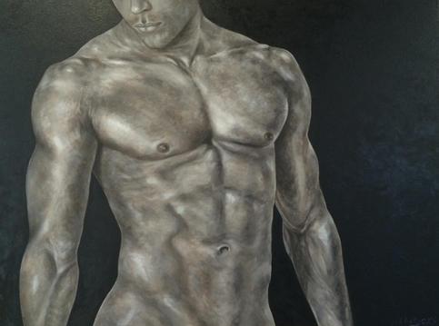 "Jesse   Oil on Canvas   30"" x 40""   $3600"