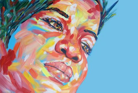 "Marisa | 36"" x 48""| Acrylic | SOLD"