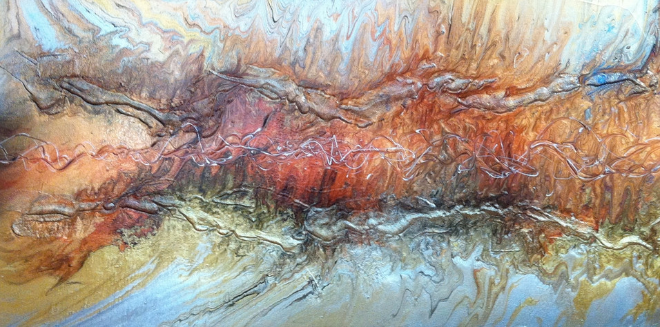 "Lava Series | Acrylic on Canvas | 30"" x 60"" 