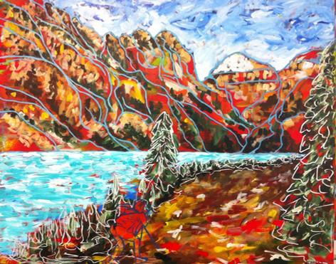 "Lake Louise | 20"" x 24"" | Acrylic | SOLD"