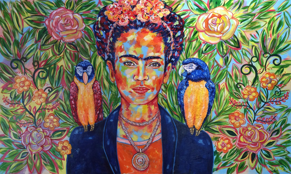 "Frida and her birds | 30"" x 60"" 