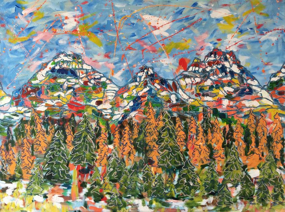 "Larch Valley | Acrylic | 30"" x 40"" | $3200"