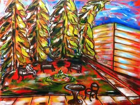 "Memorial Park | 18"" x 24"" | Acrylic | SOLD"