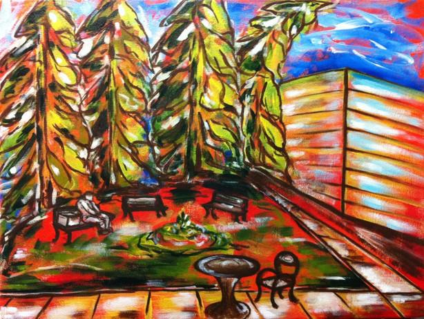 "Memorial Park   18"" x 24""   Acrylic   SOLD"
