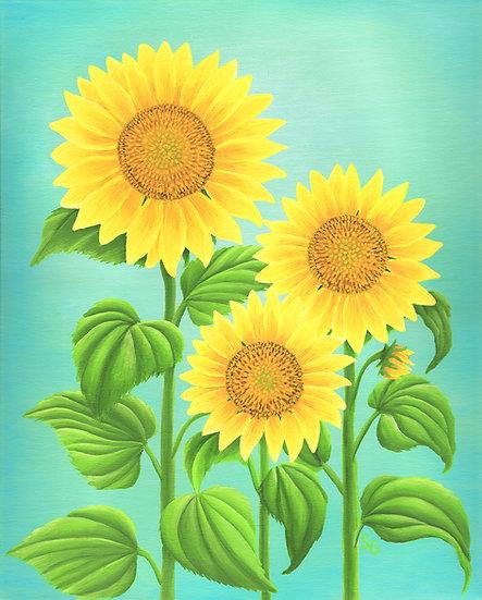 "Sunflowers 8""x10"" Print"