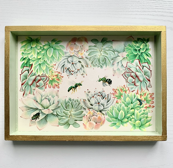 Bees and Succulents Trinket Tray