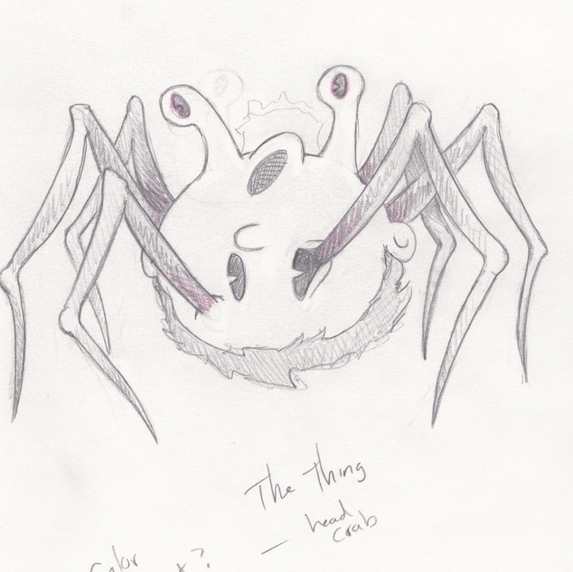 the thing head crab