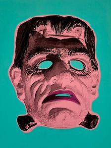 """""""Monster Mask"""" (aqua) 1/4"""
