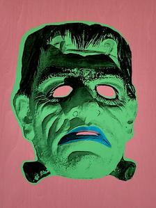 """""""Monster Mask"""" (pink) 2/4"""