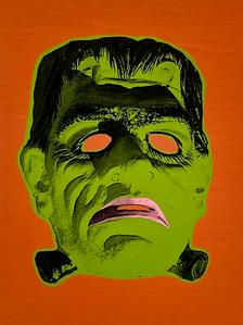 """""""Monster Mask"""" (orange) 3/4"""