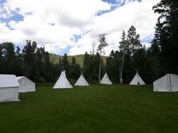 Ranch Tipi Village Green as We Set Up