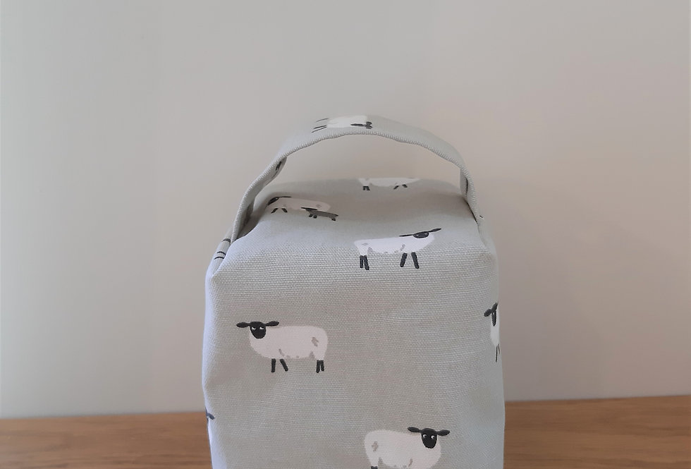 Sheep Doorstop, Handmade in Sophie Allport Fabric