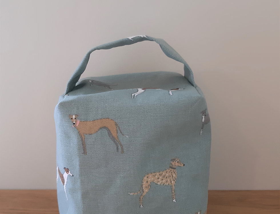 Speedy Dogs Doorstop, Handmade in Sophie Allport Fabric