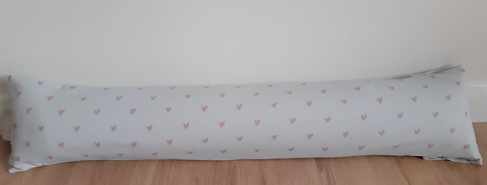 Pink Hearts Draught Excluder, Handmade in Sophie Allport Fabric